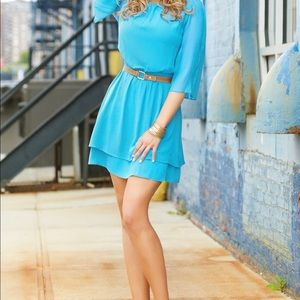 Alice + Olivia Turquoise Dress: Excellent Cond!